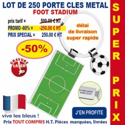 LOT DE 250 PORTE CLES METAL REF 1011 LOT