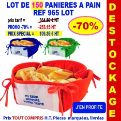 LOT DE 150 PANIERES A PAIN REF 965 LOT 965 LOT BONS PLANS 360,00 €