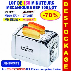 LOT DE 100 MINUTEURS REF 100 LOT 100 LOT BONS PLANS 396,00 €