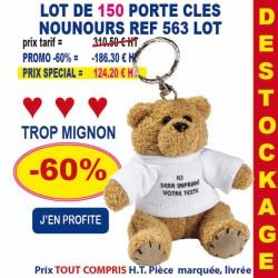 LOT 150 PORTE CLES NOUNOURS REF 563 LOT 563 LOT BONS PLANS 124,20 €