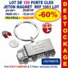 LOT DE 100 PORTE CLES METAL JETON MAGNET REF 1061 LOT 1061 LOT BONS PLANS 233,00 €