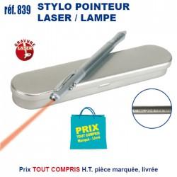 STYLO POINTEUR LASER / LAMPE REF 839 839 Stylos Divers : pointeur laser, stylo lampe... 2,92 €