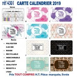 CARTE CALENDRIER 2019 REF 4301 NOUVEAUTES 039 EUR