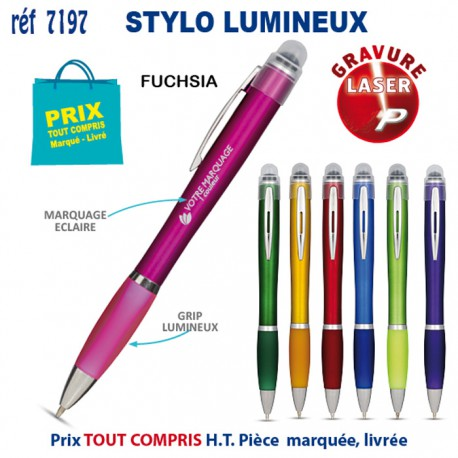 STYLO LUMINEUX REF 7197 7197 Stylos plastiques 0,80 €