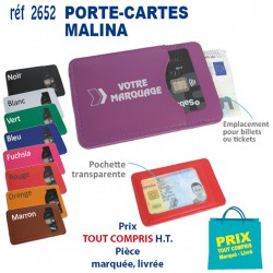 PORTE-CARTES MALINA REF 2652 2652 ETUIS PORTE CARTES DE CREDIT 0,68 €