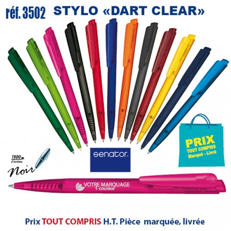 STYLO DART CLEAR REF 3502 3502 Stylos plastiques 0,22 €