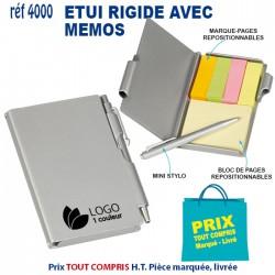 ETUI RIGIDE AVEC MEMOS REF 4000 4000 Carnet 1,04 €