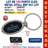LOT DE 100 PORTE CLES METAL ATOLL REF 941 LOT 941 LOT BONS PLANS 233,00 €