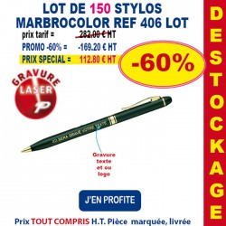 LOT DE 150 STYLOS CHIC REF 406 LOT 406 LOT BONS PLANS 282,00 €