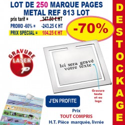 LOT DE 250 MARQUE PAGES CHIC REF 813 LOT