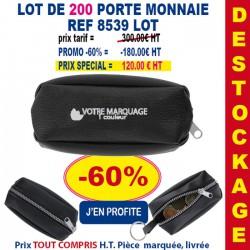 LOT DE 200 PORTE MONNAIE REF 8539 LOT