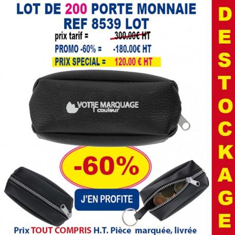 LOT DE 200 PORTE MONNAIE REF 8539 LOT 8539 LOT BONS PLANS 300,00 €