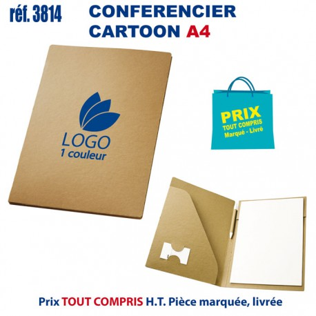 CONFERENCIER CARTOON A4 REF 3814 3814 conférenciers personnalisés  2,11€