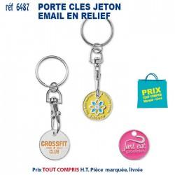 PORTE CLES METAL JETON EMAIL EN RELIEF REF 6487 6487 PORTE CLES EN METAL 0,36 €