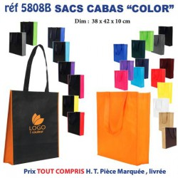 SAC NON TISSE COLOR REF 5808 b 5808 SACS SHOPPING - TOTEBAG 1,15 €