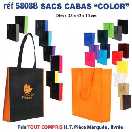 SAC NON TISSE COLOR REF 5808 b 5808 SACS SHOPPING - TOTEBAG 1,15 €