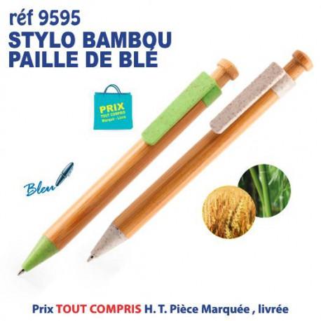 STYLO BAMBOU PAILLE DE BLE REF 9595 9595 Stylos Bois, carton, recyclé 0,83 €