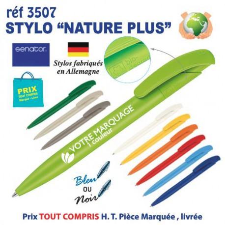 STYLO NATURE PLUS REF 3507 3507 Stylos Bois, carton, recyclé  0,48€