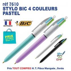 STYLO BIC 4 COULEURS PASTELS REF 7610 7610 Stylos Divers : pointeur laser, stylo lampe... 1,40 €