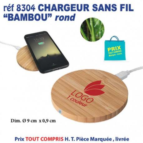 CHARGEUR SANS FIL BAMBOU ROND REF 8304 8304 BATTERIE DE SECOURS - CHARGEUR 6,05 €