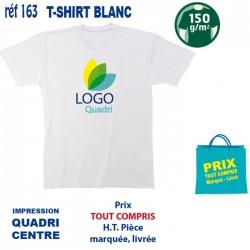 T SHIRT BLANC 150 GRS IMP CENTRE 163 CE T SHIRTS BLANCS 2,75 €