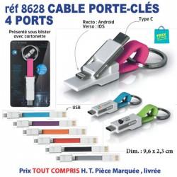 CABLE PORTE CLES 4 PORTS REF 8628 8628 ACCESSOIRES SMARTPHONE TABLETTE 3,08 €