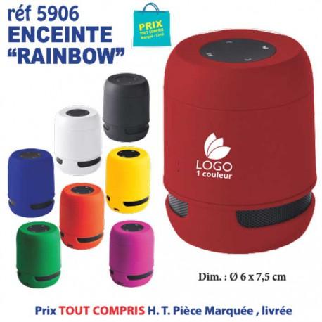 ENCEINTE BLUETOOTH RAINBOW REF 5906 5906 OBJETS CONNECTES 8,11 €