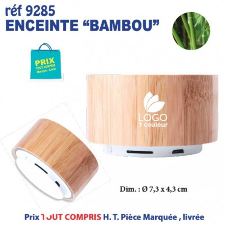 ENCEINTE BLUETOOTH BAMBOU REF 9285 9285 OBJETS CONNECTES 7,92 €