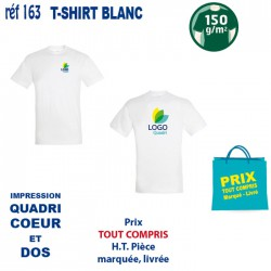 T SHIRT BLANC 150 GRS IMP COEUR ET CENTRE 163 CO CE T SHIRTS BLANCS 3,14 €