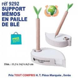 SUPPORT MEMOS EN PAILLE DE BLE REF 9292 9292 bloc notes - bloc mémos 2,02 €