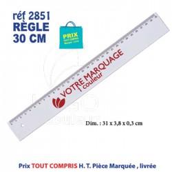 REGLE PLASTIQUE BLANC 30 CM REF 2851