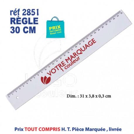 REGLE PLASTIQUE BLANC 30 CM REF 2851 2851 Règles publicitaires 0,59 €