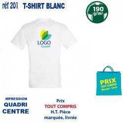 T SHIRT BLANC 190 GRS IMP CENTRE 201 CE T SHIRTS BLANCS 3,28 €
