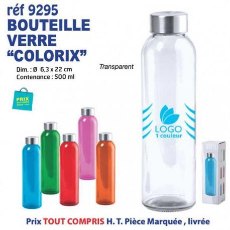BOUTEILLE VERRE COLORIX REF 9295 9295 GOURDES GOBELETS : OBJETS PUBLICITAIRES  1,90€