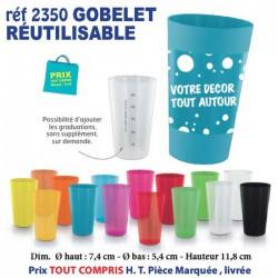 GOBELET REUTILISABLE REF 2350 2350 GOURDES GOBELETS 0,38 €