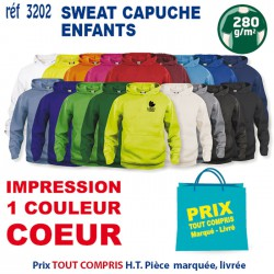 SWEAT CAPUCHE ENFANTS REF 3202
