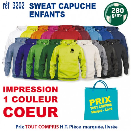 SWEAT CAPUCHE ENFANTS REF 3202 3202 SWEAT 11,42 €