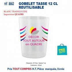 GOBELET TASSE 12 CL REUTILISABLE REF 8662 8662 GOURDES GOBELETS 0,33 €
