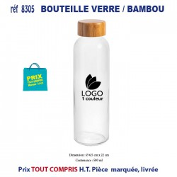BOUTEILLE BAMBOU VERRE REF 8305 8305 GOURDES GOBELETS 2,71 €