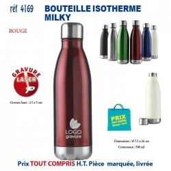 BOUTEILLE ISOTHERME MILKY REF 4169 4169 GOURDES GOBELETS 5,78 €