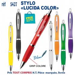 STYLO PUBLICITAIRE LUCIDA COLOR REF 5427 B 5427 B Stylos plastiques 0,59 €