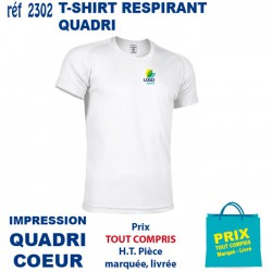 T SHIRT RESPIRANT IMP QUADRI COEUR 2302 CO T SHIRTS BLANCS 4,01 €