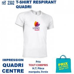 T SHIRT RESPIRANT IMP QUADRI CENTRE 2302 CE T SHIRTS BLANCS 4,63 €