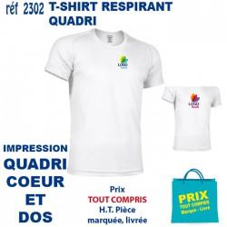 T SHIRT RESPIRANT IMP QUADRI COEUR ET DOS 2302 CO CE T SHIRTS BLANCS 5,81 €