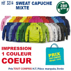 SWEAT CAPUCHE MIXTE REF 3214 3214 SWEAT 12,42 €