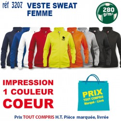 VESTE SWEAT FEMME REF 3207 3207 SWEAT 14,92 €