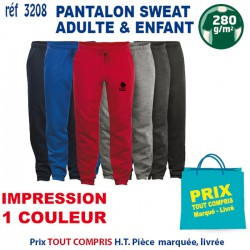 PANTALON SWEAT ADULTE ET ENFANT REF 3208