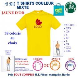 T-SHIRT COULEUR MIXTE JAUNE D'OR REF 9012 9012 JAUNE D'OR T-SHIRT COTON MIXTE 150 GRS 2,90 €
