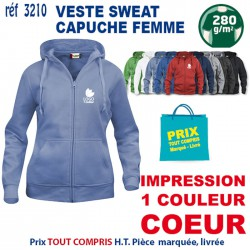 VESTE SWEAT FEMME CAPUCHE REF 3210 3210 SWEAT 18,60 €