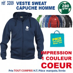 VESTE SWEAT HOMME CAPUCHE REF 3209 3209 SWEAT 18,60 €